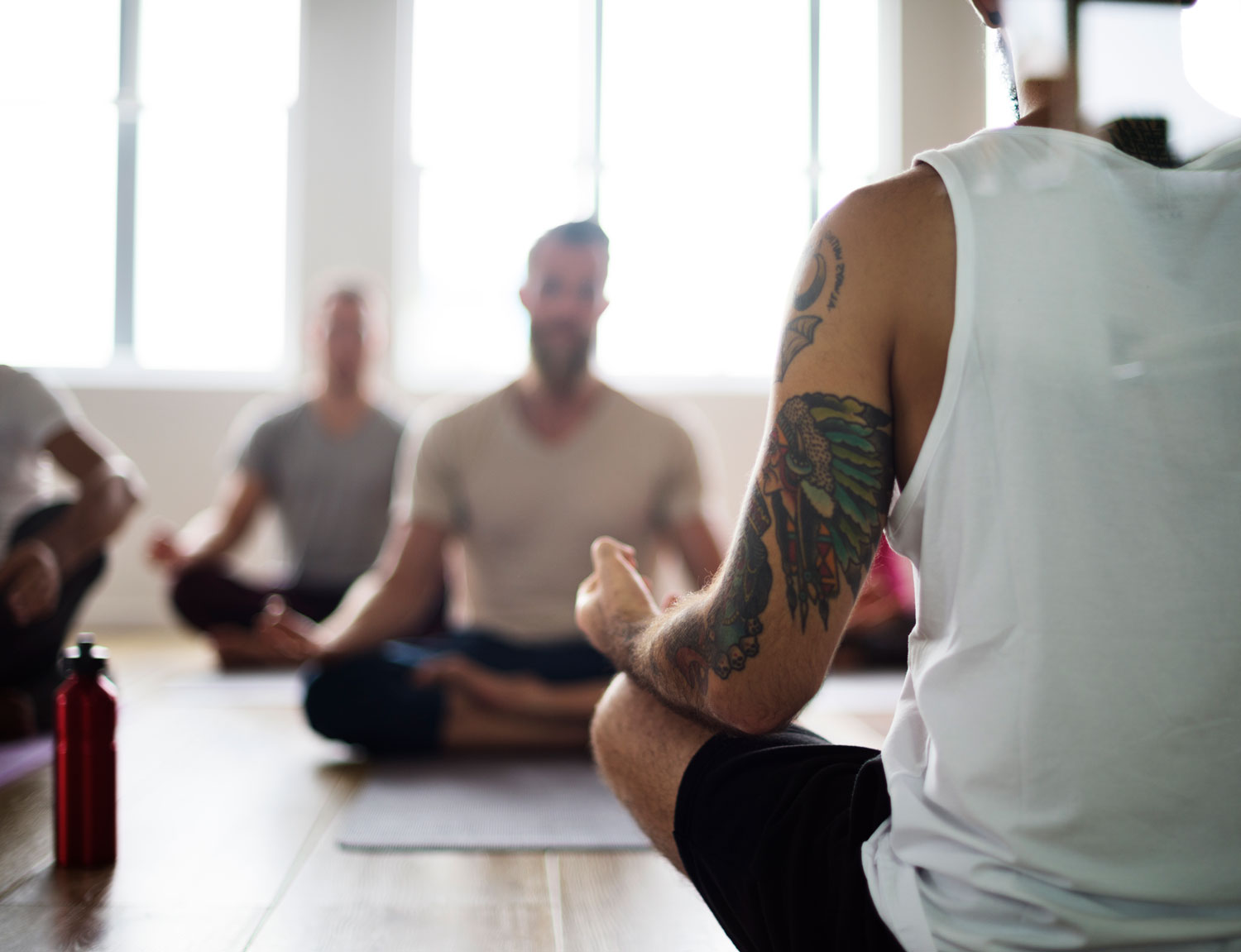 Diversity-People-Exercise-Class-Relax-Concept