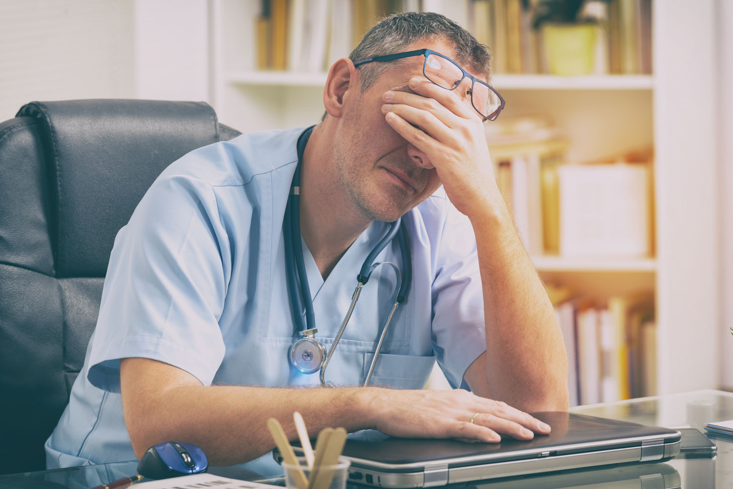 Overworked-doctor-in-his-office